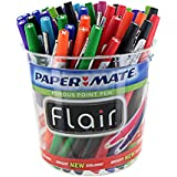 Paper Mate Flair Porous Point Felt Tip Pens, Assorted Colors, Pack of 48