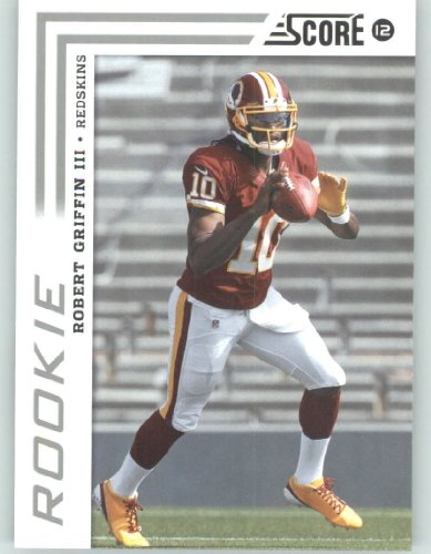 2012 Score Football Card #368 Robert Griffin III RC - Washington Redskins (RC - Rookie Card)(NFL Trading Card)