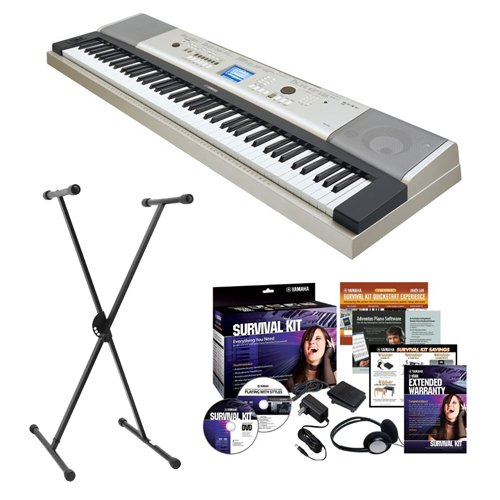 Yamaha YPG-235 76-Key Portable Grand Piano with Yamaha X-Style Keyboard Stand and Survival Kit (Includes Power Supply)