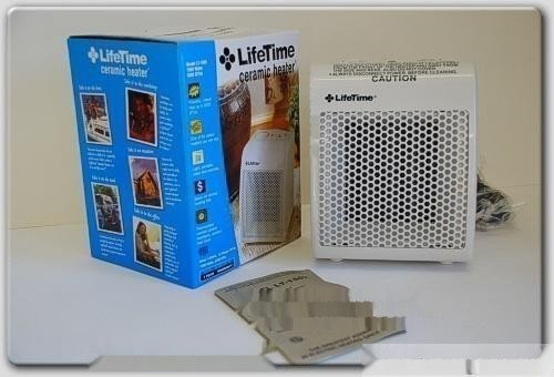 NEW Lifetime Furnace Ceramic Fin Electric Heater 5200BTU