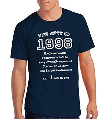 The Best of 1998 - T-shirt cadeau pour le 18e anniversaire - Hommes: Ny, S