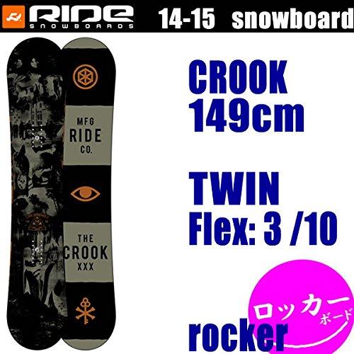 RIDE(ライド) ライド 14-15 スノーボード RIDE■ロッカーモデル■CROOK  149cm  クロック スノーボード・板