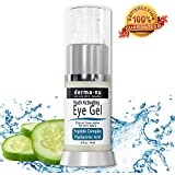Eye Wrinkle Cream By Derma-nu - Anti Aging Eye Gel Treatment for Dark Circles, Puffiness & Wrinkles - Peptide Collagen Building Formula - Hyaluronic Acid & Amino Acid - .5oz