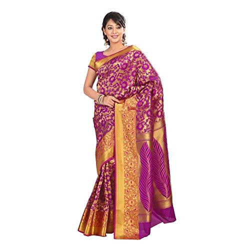 Varkala Silk Sarees Silk Full Brocade Saree (Ns5102Pv _Purple)