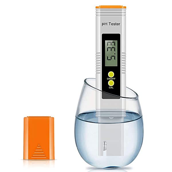 Digital PH Meter, High Accuracy 0.01 PH Pen Tester for Drinking Water & Aquariums & Fish Tank & Pond & Kombucha & Wine, Water Quality Tester (Color: Orange)