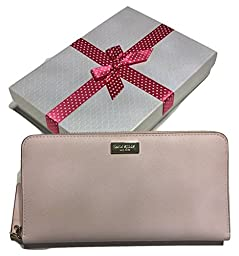 Kate Spade Newbury Lane Neda Clutch Wallet WLRU1498 with Gift Box (Ballet Slippers Pink)