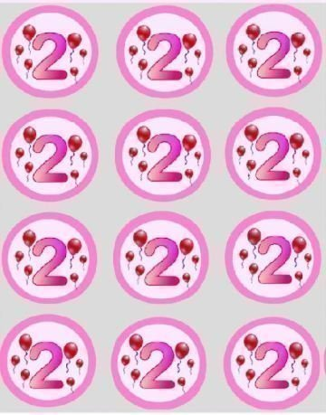 12-2nd-birthday-girls-pink-balloon-rice-papier-fee-cup-cake-40mm-toppers-pre-decoupe-decoration