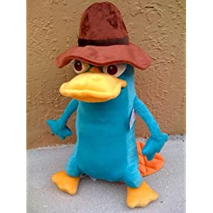 "BIG 16"" Phineas & Ferb Agent Perry Platypus Plush Doll ..."