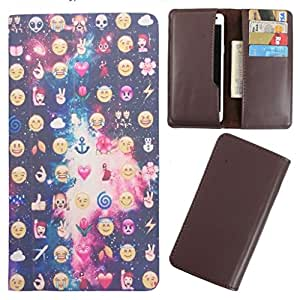 DooDa - For Panasonic Eluga S PU Leather Designer Fashionable Fancy Case Cover Pouch With Card & Cash Slots & Smooth Inner Velvet