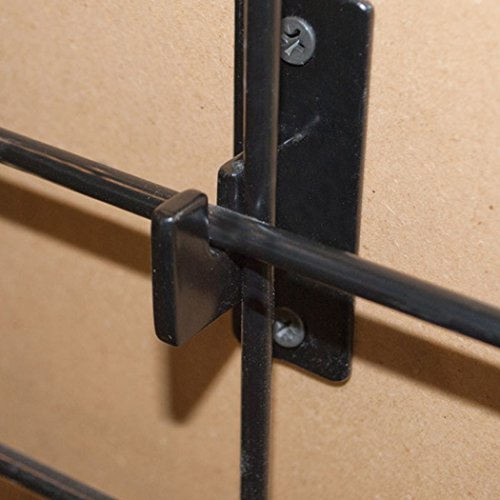 Grid Wall Hanger Bracket Wall Mount Store Display Fixture Black Lot of 48 NEW (Grid Wall Mount Brackets compare prices)