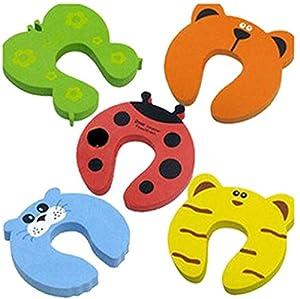 La vogue 5 X Tope Clip-Protección Para Puertas Dedos Seguridad Niño Bebé-10.5*10.5*1.5cm - BebeHogar.com