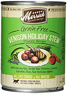 MERRICK PET CARE Venison Holiday  Stew, Can For Dog, 13.2, 12 Count
