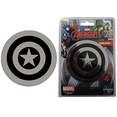 Captain America Shield Logo Marvel Avengers Assemble Comics Auto Car Truck SUV Vehicle Garage Home Office School 3D Chrome Emblem Decal - Emblemz (America Auto Decals compare prices)