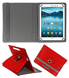 ECellStreet 360° Degree Rotating Flip Case Cover Diary Folio Case With Stand For Zebronics Zabpad - Red