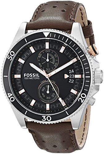 Fossil CH2944 Wakefield de piel color marrón reloj para hombre