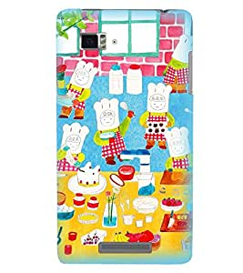 Printvisa Animated Chefs Baking Cake Back Case Cover for Lenovo Vibe Z K910