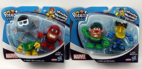 Mr. Potato Head Mavel Mixable, Mashable Heroes! Bundle Hulk, Wolverine Spider-Man And Doc Ock front-1055349