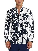GALVANNI Camisa Hombre Gianni (Blanco / Negro)