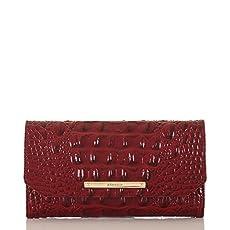 Soft Checkbook Wallet<br>Carmine Red Melbourne