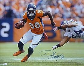 Demaryius Thomas Autographed Denver Broncos 16x20 Photo (orange horizontal) w/JSA