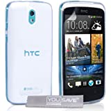 Yousave Accessories Silicone Gel Cover Case for HTC Desire 500 - Clear