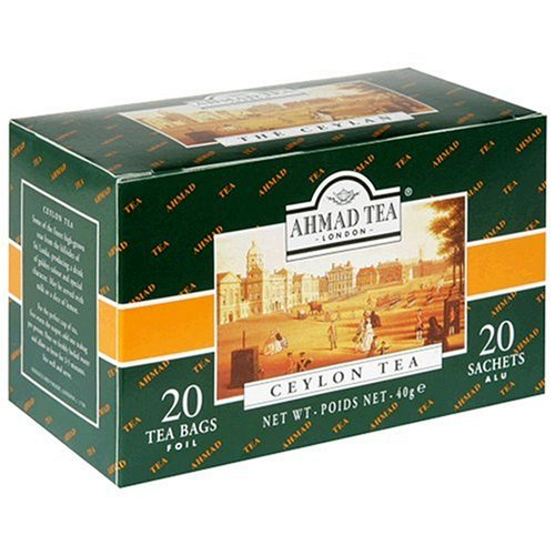 Ahmad Tea Ceylon Tea, Tea Bags, 20-Count Boxes (Pack Of 6)