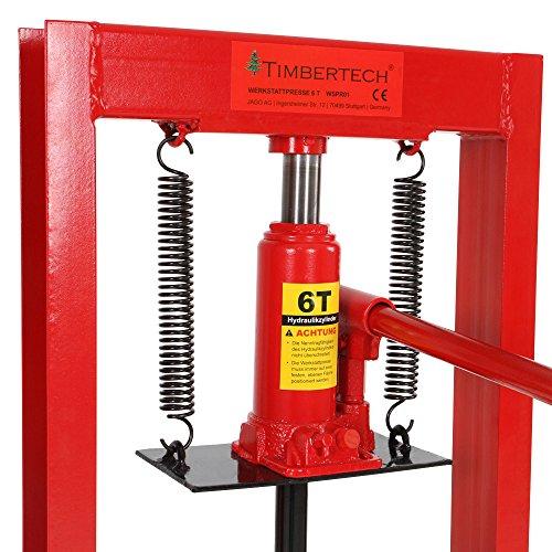 pressa manuale idraulica officina 20t con manometro