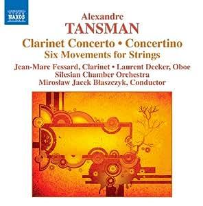 Alexandre Tansman : Concerto pour clarinette - concertino