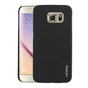 Samsung Galaxy S6 Case : HOKO Sandstone Series Anti scratch Hard Case Back Cover for Samsung Galaxy S6 (Denim Black)