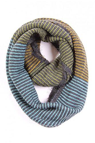 Lily Stripe Infinity Scarf (Green)