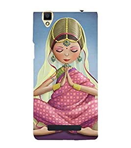 animated traditional indian girl 3D Hard Polycarbonate Designer Back Case Cover for Oppo F1
