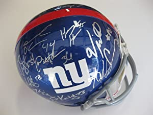 2012 NEW York Giants Team Signed Full Size Helmet Certificate of Authenticity with... by Riddell