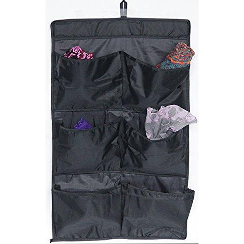 Mondex EVE737-01 Organiseur de Porte avec 6 Pochettes Tissu/Plastique Noir 38 x 18 x 1 cm