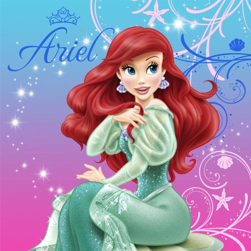 Little Mermaid Sparkle Party Lunch Napkins -16 count