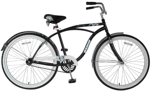 Mantis Men's Beach Hopper Cruiser Bike (Black/White, 26 X 19-Inch)