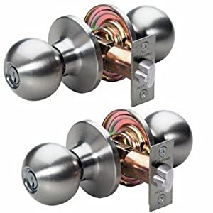 Master Lock Bao0115t Ball Keyed Entry Door Knob Set With