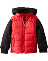 iXtreme  Boys' 100 Percent Polyester Puffer Vest Hoodie