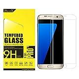 Samsung Galaxy S7 edge 強化ガラスフィルム,Buself Galaxy S7 Edge 用 強化 ガラスフィルム フルカバー 3D 曲面 5.5インチ 9H 飛散防止 高透過率 撥油性 耐指紋 硝子 au SCV33 do...