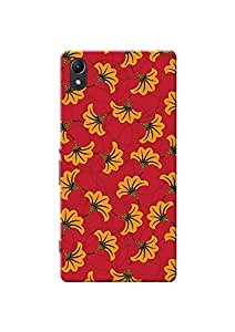 KanvasCases Printed Back Cover For Sony Xperia Z2 + Free Earphone Cable Organizer