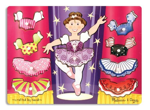 Picture of Fun Melissa & Doug Ballerina Dress-Up Mix 'n Match Peg (B000F49VBA) (Pegged Puzzles)
