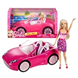 Mattel Year 2012 Barbie Fashionistas Series 12 Inch Doll Vehicle Playset - GLAM AUTO With Barbie Doll And Pink...