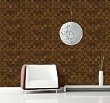 DIY リフォームシール 接着剤いらずの粘着付きかんたん壁紙 編み込みウッド
