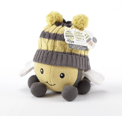 Baby Aspen Critter Couture Knit Bee Plush Toy and Knit Cap for Baby (Discontinued by Manufacturer) - 1