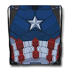 Captain America Costume Drawstring Backpack
