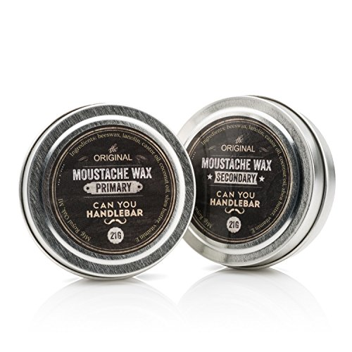 Primary and Secondary Moustache Wax SET | The Best Daily and Extra Strength Wax Kit