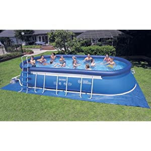 Intex 24 39 x 12 39 x 48 oval ellipse easy frame for Piscine gonflable intex easy set