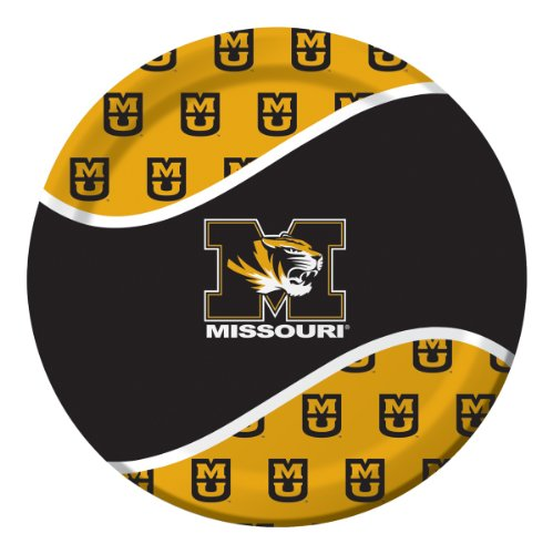 Creative Converting Missouri Tigers Dinner Paper Plates (8 Count)
