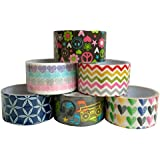 Duct Tape Adhesive Tape Colored Designer Colorful Variety Pack Craft in Colors with Designs Decorative