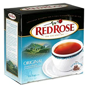 Red Rose Black Tea, 40 Count Box (Pack of 6)