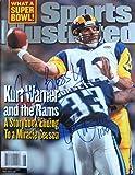 Warner, Kurt 2/7/00 autographed magazine